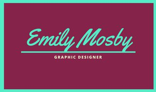 Шаблон визитки графического дизайнера с яркой рамкой