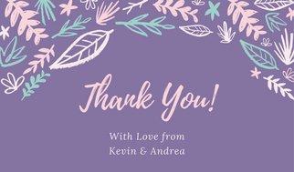 Дизайн таблички для подарка в фиолетовых тонах с флористической графикой