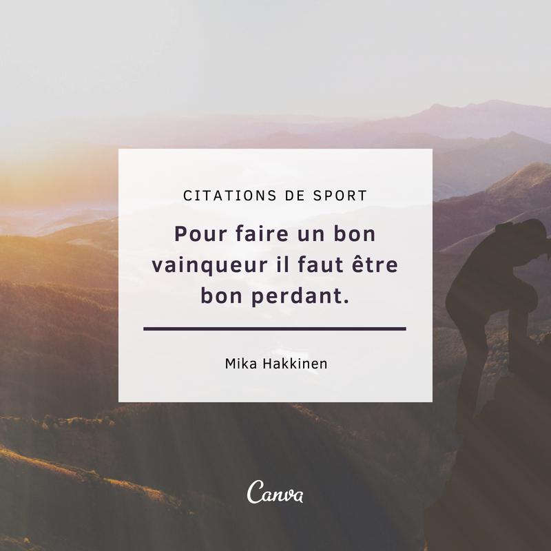Notre Selection Des Meilleures Citations Sur Le Sport Canva