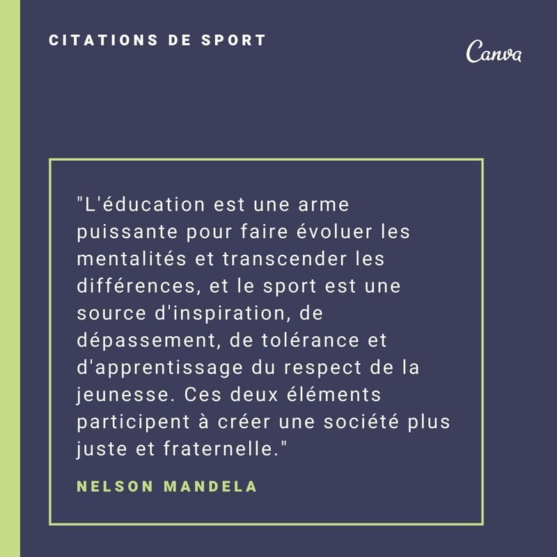 Notre Sélection Des Meilleures Citations Sur Le Sport Canva