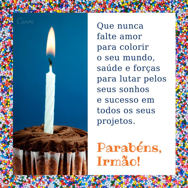 Mensagem De Feliz Aniversário Para Irmãos Frases Canva