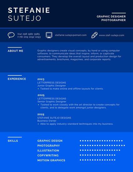 Личный профиль с цветовой инфографикой
