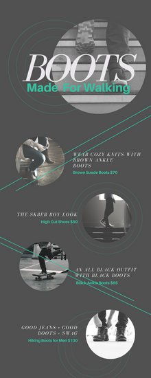 Рекламная инфографика о спортивной обуви