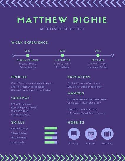 Образец инфографики с фиолетовым фоном