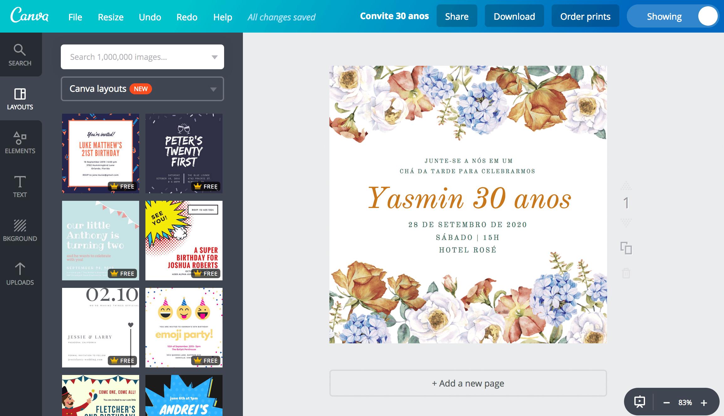 Convite de 30 anos
