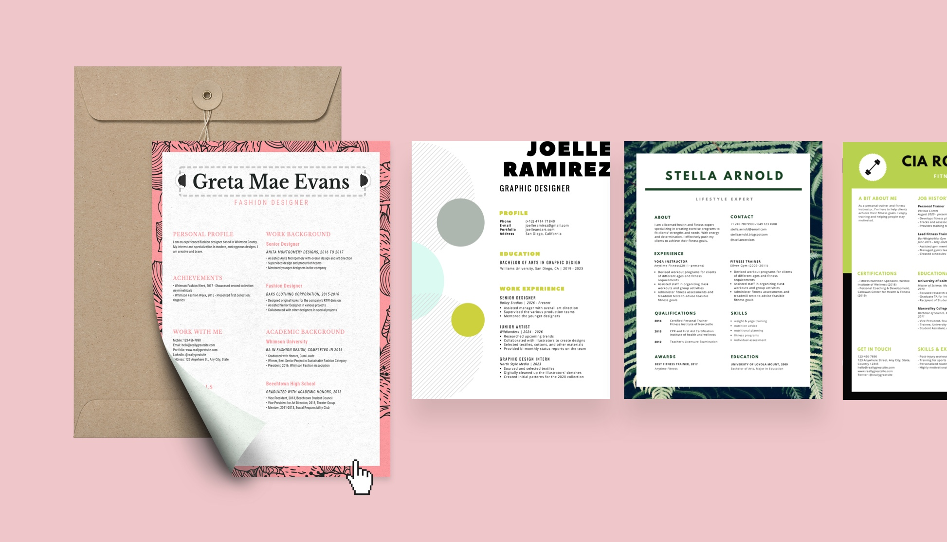 Creating A Resume Online With Canvas Free Builder Will Give You Sleek And Attractive