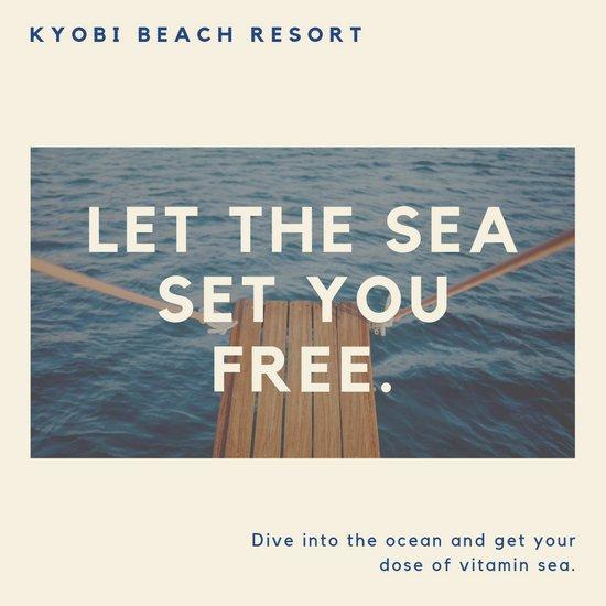 Дизайн для Инстаграм с фотографией океана