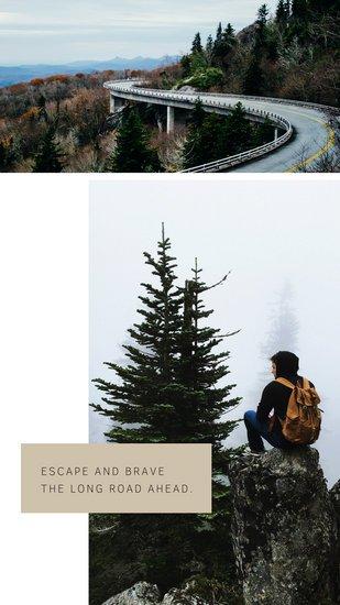 Дизайн сторис Инстаграм с фотографиями природы