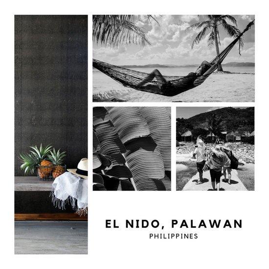Шаблон для Инстаграм с коллажом из отпускных фотографий