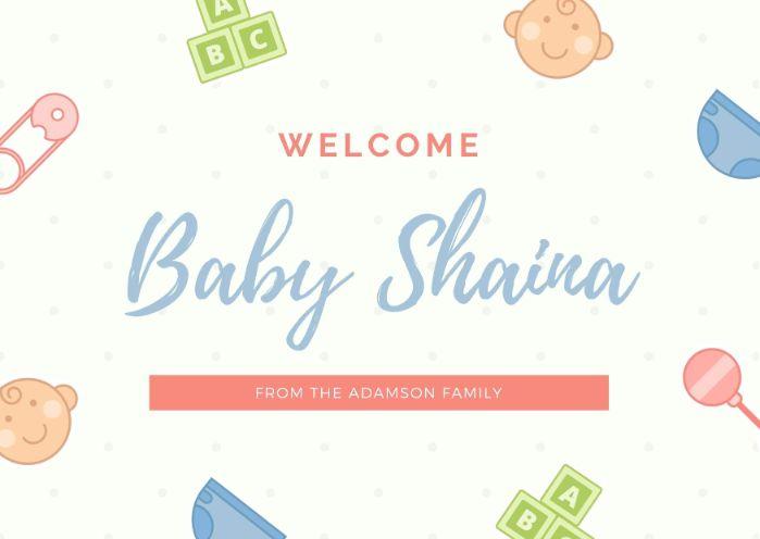 Образец поздравления с новорожденным с детскими атрибутами