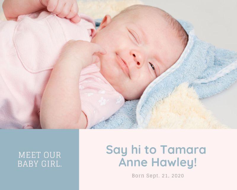 Дизайн открытки с младенцем в пастельных тонах