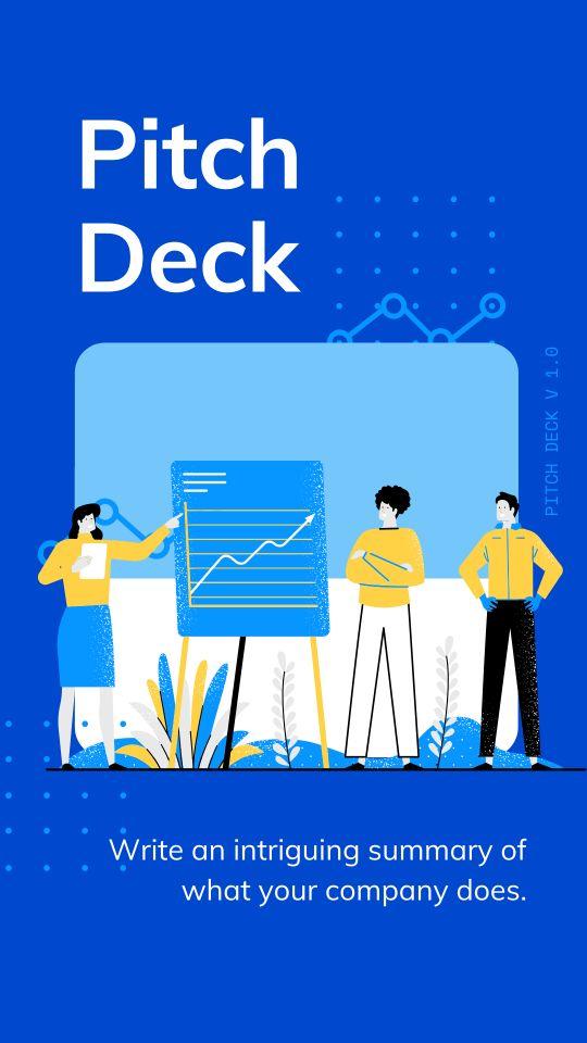 Шаблон презентации для мобильных устройств с синим фоном