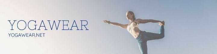 Шаблон горизонтального баннера с рекламой студии йоги