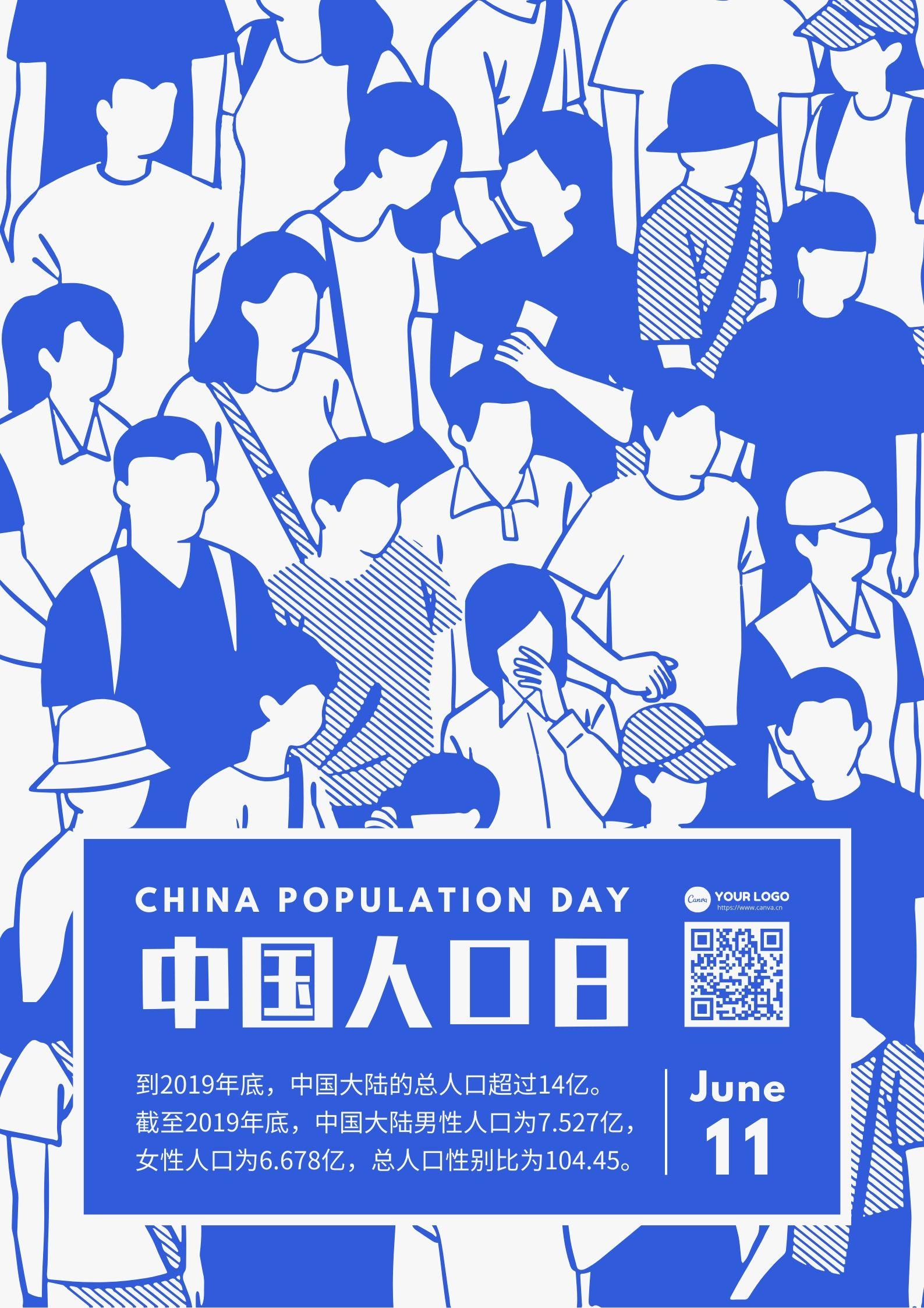 中国人口日海报