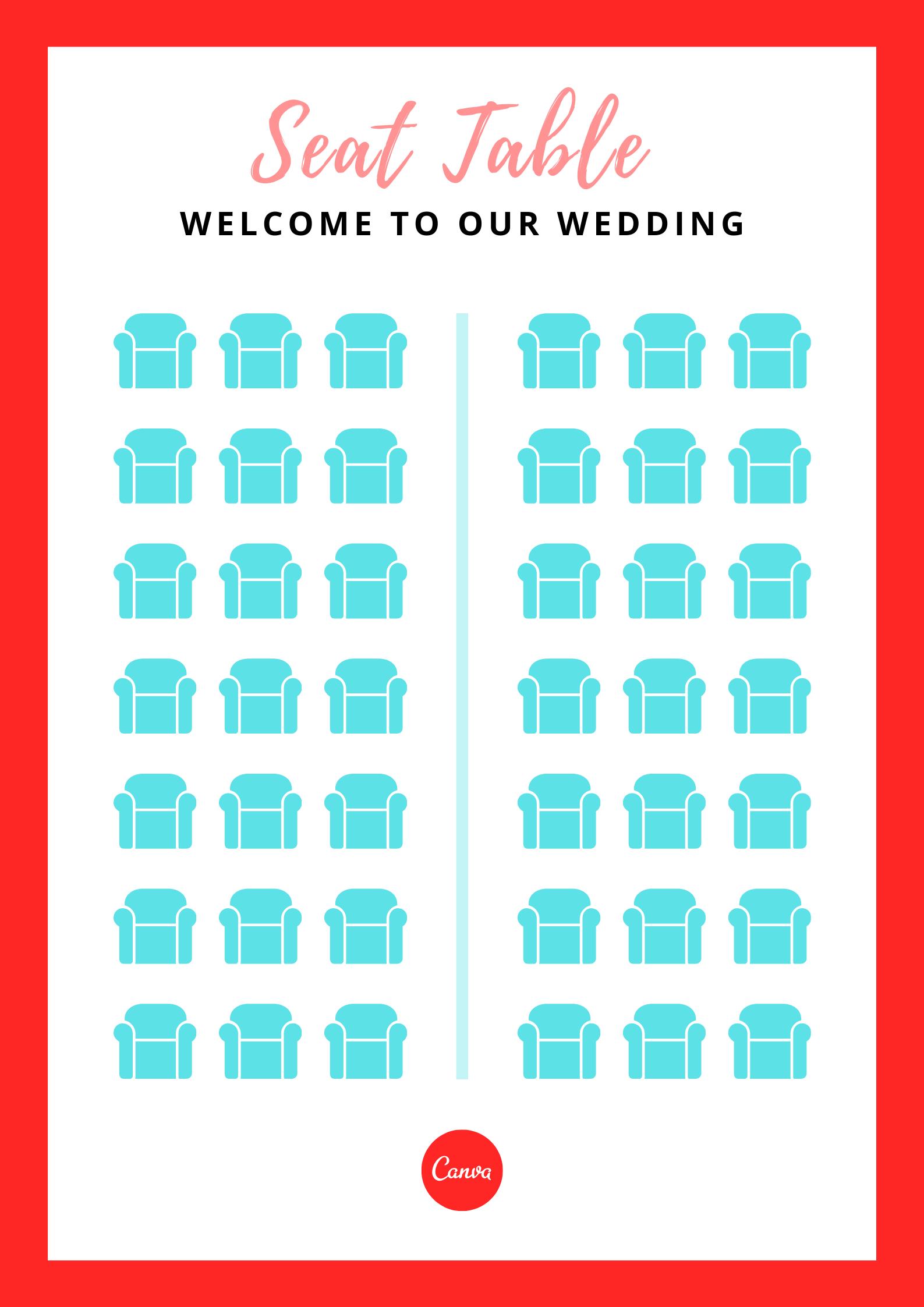 婚礼座次表