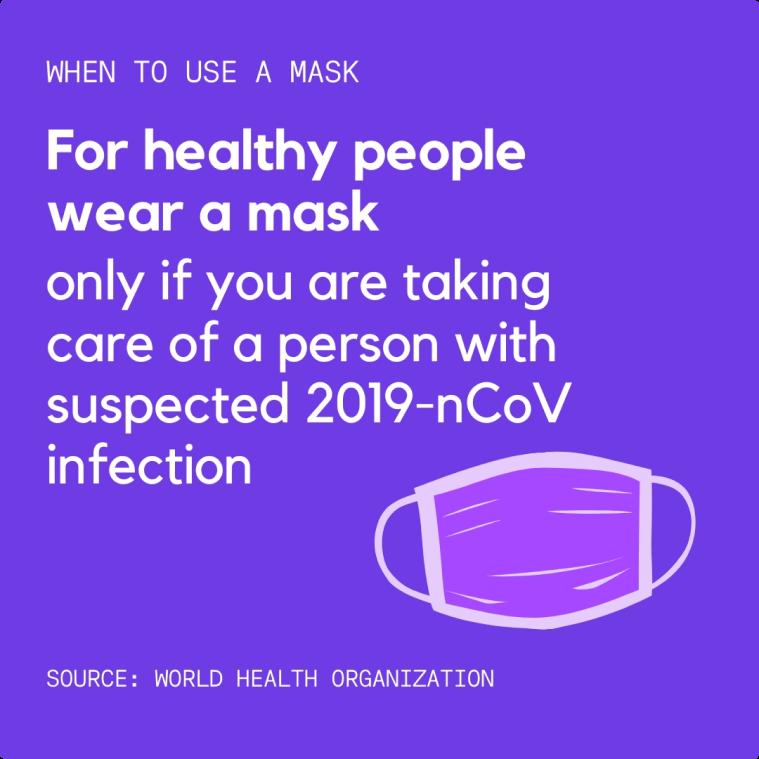 Canva Coronavirus Disease Collection - healthy people wear a mask - purple BG