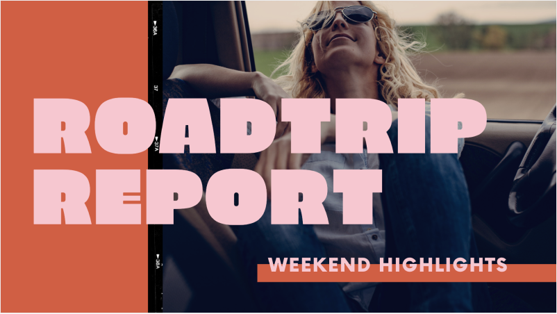 Pink and Orange Roadtrip Travel Documentary Slideshow Video