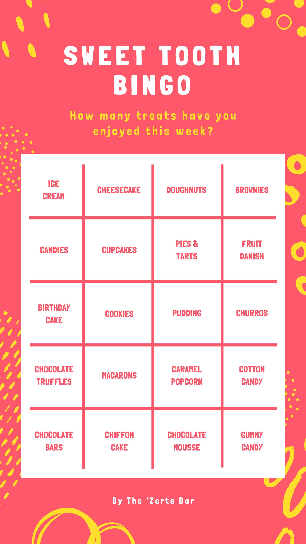 Red Dots Text Bingo Food Interactive Instagram Story