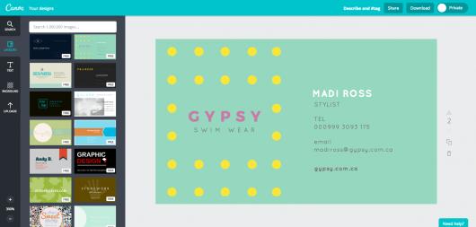 Graphic Design Business Name Ideas dr organizer Diy Business Card Design